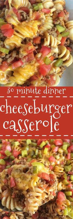 All the flavors you love about a cheeseburger in an easy, family-favorite casserole! Cheeseburger casserole is a quick, meal that is kid-approved and so cheesy. (beef recipes for dinner casseroles) Beef Dishes, Pasta Dishes, Food Dishes, Main Dishes, New Recipes, Cooking Recipes, Favorite Recipes, Healthy Recipes, Casseroles Healthy