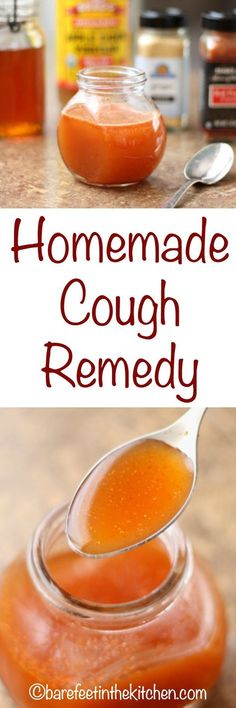 Homemade Cough Remedy - get the directions at barefeetinthekitchen.com