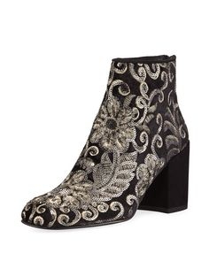 Shop Pipebacari Embellished Velvet Bootie from Stuart Weitzman at Neiman  Marcus Last Call 675cc81ae92