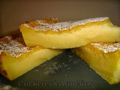 Recipes from Portugal: Cheese dairy and orange-- Very easy fast and delicious . Tart Recipes, Sweet Recipes, Dessert Recipes, Cooking Recipes, Portuguese Desserts, Portuguese Recipes, Portuguese Food, Food Cakes, Fudge