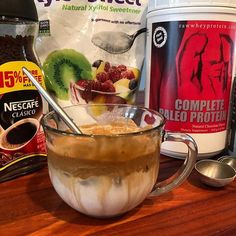 Dalgona Coffee made with Delicious Chocolate Complete Paleo Protein! Paleo Chocolate, Delicious Chocolate, Chocolate Flavors, Organic Coconut Cream, Yummy Drinks, Yummy Food, Paleo Protein Powder, Food To Make, Healthy Recipes