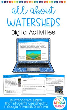 Check out these engaging digital activities as a new way to teach your students about watersheds! Great addition to a science unit on ecosystems, the water cycle, or natural resources! Works for 1:1 classrooms and anyone who wants to add some technology to their teaching!