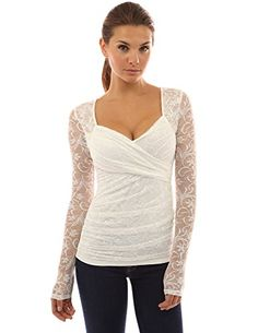 PattyBoutik Women's Sweetheart Floral Lace Long Sleeve Blouse (Ivory XL) PattyBoutik http://www.amazon.com/dp/B00IID3SKA/ref=cm_sw_r_pi_dp_K5l2vb09BG0BC