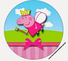 Edible Cake Cupcake Topper Decoration Image Peppa by CakersWorld Peppa Pig Princesa, Bolo Da Peppa Pig, Cumple Peppa Pig, 4th Birthday Parties, 3rd Birthday, Invitacion Peppa Pig, Peppa Pig Birthday Outfit, Peppa Pig Imagenes, Peppa Pig Printables