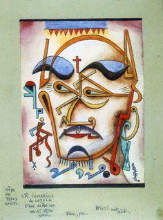 "1961, Xul Solar: ""Ignacio de Loyola"". XUL SOLAR era Oscar Agustín Alejandro Schulz Solari (San Fernando, Argentina 1887-1963)."