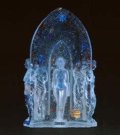 Keeper of the Treasure - cast glass by Linda Ethier