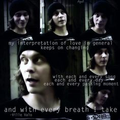 Words of  Ville Valo