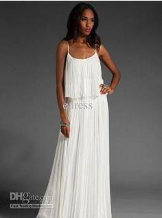 Venta al por mayor vestido de Maxi - Compra gasa elegante vestido de la manera plisada maxi, 1Pcs/Lot, envío libre, calidad prometida, $ 23.86 | DHgate