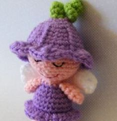 [Free Pattern] Petunia Is A Wee Little Fairy Only Tall - Knit And Crochet Daily Crochet Fairy, Crochet Dolls, Easy Crochet, Free Crochet, Knit Crochet, Crochet Hats, Cool Patterns, Crochet Patterns, Amigurumi Doll