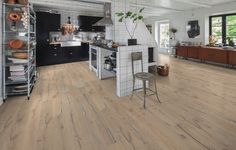 Kahrs Supreme Smaland Sevede has a true depth of character. The rich, warm tones contrast with lighter streaks to create a 3 dimensional, dynamic surface. Old Wood Floors, Wooden Flooring, Vinyl Flooring, Hardwood Floors, Oak Flooring, Kahrs Flooring, Supreme, Interior S, Interior Design