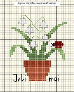 flower and ladybug cross stitch