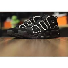74ec3cff3aa98b Nike Air More Uptempo pippen AIR series of all black white edge antique  basketball shoes Basketball