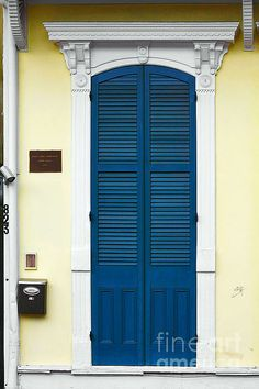 New Orleans Blue Door Photograph by Christine Till Fine Art Prints and Posters for Sale at http://pixels.com/featured/new-orleans-blue-door-christine-till.html   christine-till.artistwebsites.com   ..rh