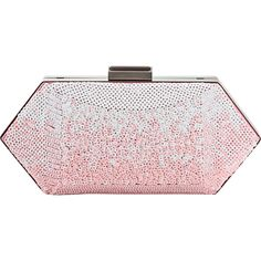 OSCAR DE LA RENTA Sequins Cara Vanity Case Clutch (¥247,010) ❤ liked on Polyvore featuring bags, handbags, clutches, purses, accessories, pink, pink handbags, hand bags, chain purse and pink sparkle purse