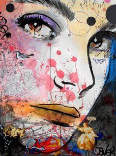 """Saatchi Online Artist: Loui Jover; Paper 2013 Painting """"kaleidoscope"""" <3"""