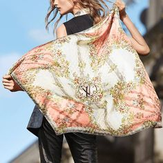Women - Flowers XVIII Square Women Accessories Scarves and shawls   LOUIS VUITTON