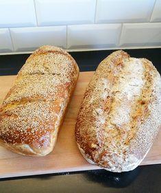 Saftigt bröd med rågmjöl och linfrön - ZEINAS KITCHEN Zeina, Piece Of Bread, Our Daily Bread, Swedish Recipes, Breakfast Snacks, Bread Baking, I Love Food, Bread Recipes, Vegetarian Recipes