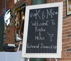 rehearsal dinner signs - Google Search