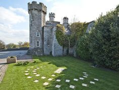 [ Human Sundial at Bodelwyddan Castle, North Wales ]