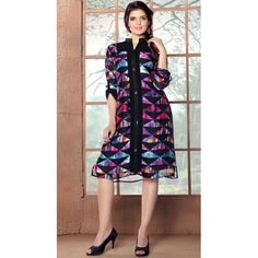 INDIAN RAG Pure Georgette Printed Short Kurti