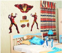 Vinyl Wall Sticker For Children Iron Man by Decor18 on Etsy, €8.99