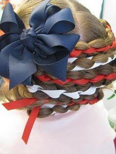 American Flag Hair