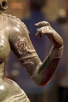 Detail, Chola and Pallava bronze statues (9th to 13th century AD). Bronze Gallery, Pantheon Complex. Cennai Madras), India. | Flickr - Photo Sharing! © Daniel Virella