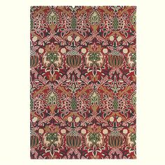 Granada Rug William Morris first produced the Granada design in 1884. Specifically adapted for rugs, the beautiful  pomegranate design is coloured in red, green & gold.