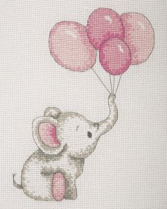 Sweet Ballons - Girl - cross stitch kit by Anchor - Cross stitch designs - Baby Cross Stitch Patterns, Cross Stitch Fabric, Cross Stitch Art, Cross Stitch Borders, Counted Cross Stitch Patterns, Cross Stitch Designs, Cross Stitching, Cross Stitch Embroidery, Hand Embroidery