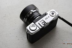 Olympus Pen EE-3 + 43.5-49mm Step up ring + Kenko AC Close up No.4 + Kenko PL + Olympus lens hood
