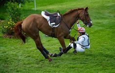London 2012: Oiwa Yoshiaki was on the lead after dressage but was eliminated in cross-country because of a fall. I bet he was more than disappointed!