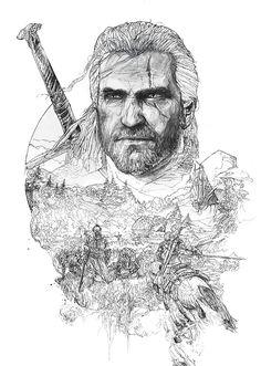 The Witcher 3 / Steelbooks dailyshit design ShockBlast Witcher 3 Art, The Witcher Game, The Witcher Books, The Witcher Geralt, Witcher 3 Wild Hunt, Witcher Tattoo, Monster Sketch, Visual Development, Fanart