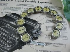 Typewriter Key Jewelry  Authentic Buttery Yellow by thekeyofa, $48.00