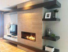 Seven Interior Design Tips For Your Home - My Romodel Living Room Decor Fireplace, Basement Fireplace, Home Fireplace, Fireplace Remodel, Modern Fireplace, Fireplace Surrounds, Fireplace Design, Living Room Bedroom, Living Room Interior