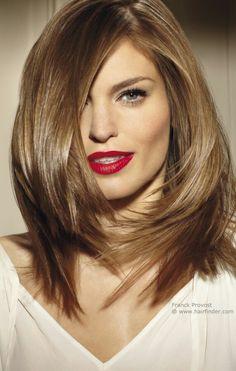 medium length for thick straight hair