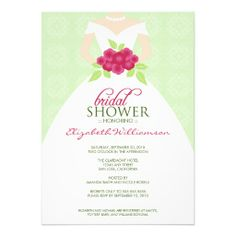 Wedding Dress Bridal Shower Invitation (mint)