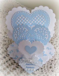 Triple Easel Heart Card