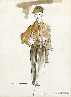 Blossac 1953 Fashion Illustration Dior Lecomte Griffe Givenchy ..4 Pages