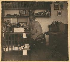 L.N. Tolstoi in his study. In Iasnaia Poliana (May, 1908) L.N. Tolstoĭ v kabineti︠e︡. V I︠A︡snoĭ poli︠a︡ni︠e︡