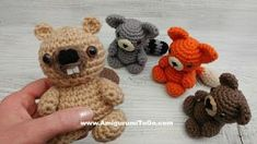 Meet the Mini Forest Friends, The Fox, Raccoon and Beaver are modified Mini Bears. I just released the bear pattern last week, here, along with video tutorials for each part of the bear pattern. If yo