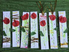 Punt de llibre amb roses grapades, i una iniciativa solidària. #creixercreant #santjordi #santjordi2014 #rosescontraloblit