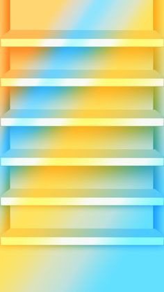 ↑↑TAP AND GET THE FREE APP! Shelves Stylish Blue Yellow Gradient Ombre Bright HD iPhone 6 plus Wallpaper