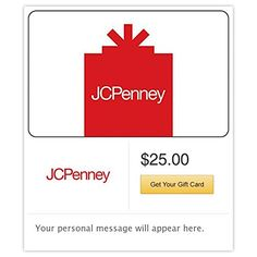 JCPenney Gift Cards  Email Delivery -- You can find more details by visiting the image link.Note:It is affiliate link to Amazon.