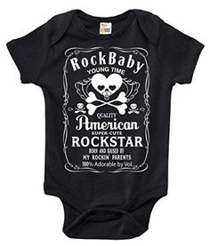 The Rock n Roll Baby Bodysuit That Wins The Hearts of All. Out with the boring bodysuit! Rapunzie onesies feature witty and charming sayings and illustrations to bring out the fun in your baby's wardr Baby Kids Clothes, Baby & Toddler Clothing, Kids Clothing, Baby Shirts, Onesies, Baby Boy Outfits, Kids Outfits, Baby Bodysuit, Baby Onesie