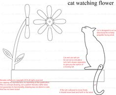 Free Patterns and ideas: Cat Watching Flower Whirligig Concept