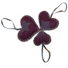 Plum Heart Decorations by TheOliveTreeAtelier on Etsy, £6.00