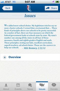 Romney/Ryan mobile app