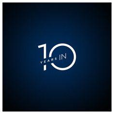 10 Years In logo, - helena Logos, Typography Logo, Anniversary Logo, 10 Year Anniversary, Club Design, Book Design, 100 Logo, Corporate Event Design, Commemorative Stamps
