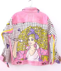 Vintage Pink Levis BARBIE And The ROCKERS Denim Jacket With Gem Detail by TresShe, $180.00