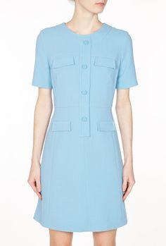Exclusive Cornflower Sylvie Pocket Shift Dress by Goat